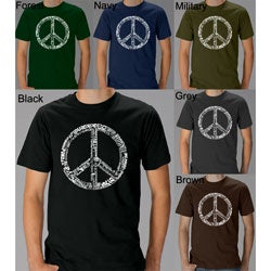Los Angeles Pop Art Men's 77-language Peace Symbol