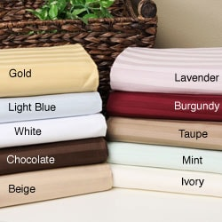 Egyptian Cotton 650 Thread Count Olympic Queen Striped Sheet Set