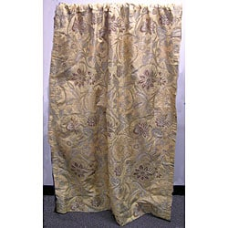 Saffron-lined Window Curtains (50 in. x 96 in.)