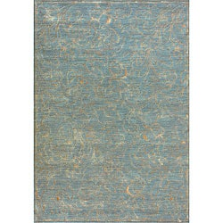 Machine-made Amber Blue/ Gold Rug (3'9 x 5'6)