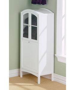 White Arch-Top Bathroom Cabinet