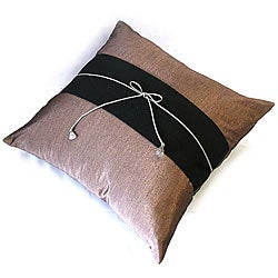 Decorative Light Purple and Black Cushion Cover