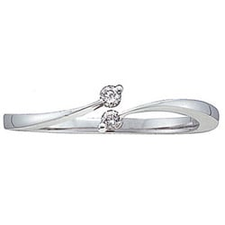 10k White Gold Diamond Promise Ring