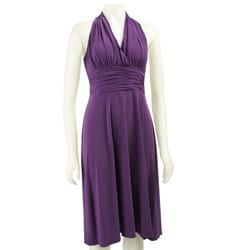 Evan Picone Women's Purple Marilyn Dress