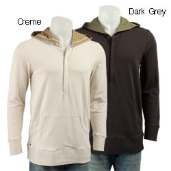 The Smooth Company Men's Hooded Henley Sweatshirt
