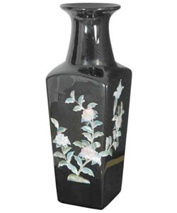 Black Square Porcelain Vase (China)