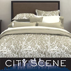 City Scene Bamboo Smoke 3-piece Duvet Cover Set