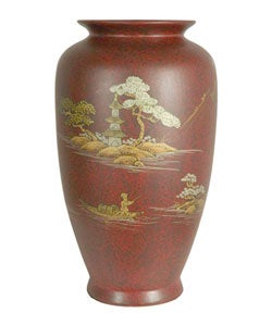 Red Tung Chi Porcelain Vase (China)