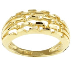 Sterling Essentials 14K Gold over Silver Multi-band Ring