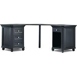 Tribeca Black Dual Cabinet Corner Desk 11521720