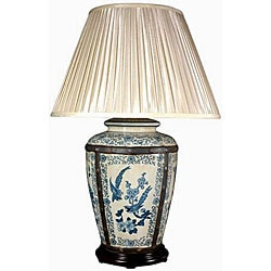 Ornate Porcelain Vase Lamp (China)