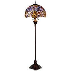 Tiffany style celestial spring floor lamp 11525139 for Overstock tiffany floor lamp