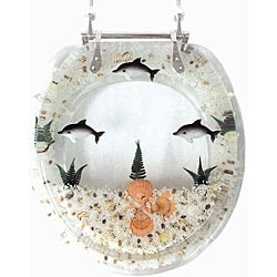 Decorative Polyresin Dolphin Toilet Seat