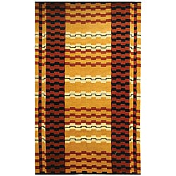 Safavieh Hand-knotted Zipper Contemporary Wool Rug (9'6 x 13'6)