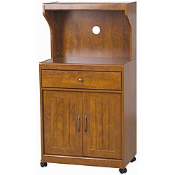 Kevin Cherry Wood Microwave Cart