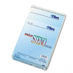 Prism 6x9-inch 80-Sheet Ruled Steno Notebooks (Pack of 4)