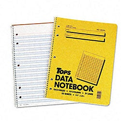 Tops Spiral-bound 5-hole Data Notebook