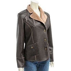 Montanaco Women's Faux Leather Jacket