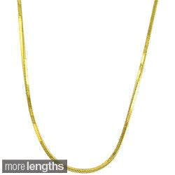 Fremada 10k Yellow Gold Square Snake Chain (16- 18 inch)