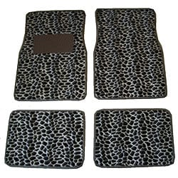 Front and Rear Giraffe Print Car Floor Mats