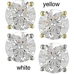 Miadora Signature Collection 14k Gold 2ct TDW Martini Diamond Stud Earrings (G-H, SI1-SI2)