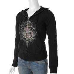 Lucky Brand Junior's Heart Rose Print Hoodie