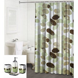 Olivia Shower Curtain & 4-piece Bath Accessory Set