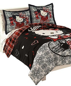 Hello Kitty 'Rocker' Full/ Queen Comforter Set
