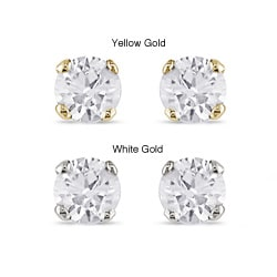 Miadora 14k Gold 1/4ct TDW Diamond Stud Earrings (J-K, I2-I3)