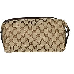 Gucci GG Plus Beige Men's Jacquard Logo Dop Kit