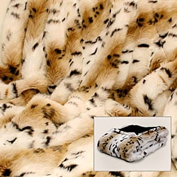 Lynx Faux Fur Throw