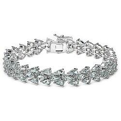 Malaika Sterling Silver Aquamarine Bracelet