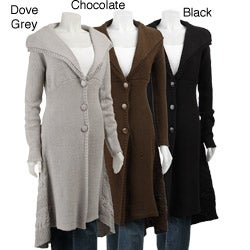 Belldini Women's 3-button Sweater Coat Duster - Overstock Shopping