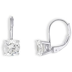 Simon Frank 14k White Gold Overlay CZ Basket Set Earrings