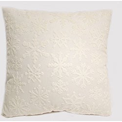 White Snowstorm 24-inch Floor Pillow