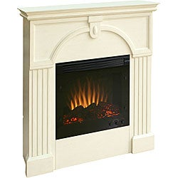 Luxemburg Antique White Electric Fireplace With Remote 11557735 Shopping