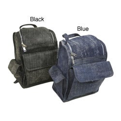Piel Leather U-zip Denim Backpack