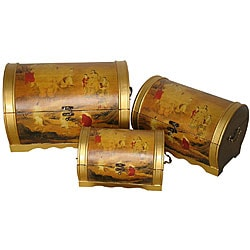 Set of 3 Elephant Magic Storage Boxes (China)