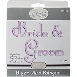 Sizzix Bigz BIGkick/ Big Shot Bride and Groom Phrase Die