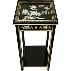 'Black Birds and Flowers' Oriental Pedestal (China)