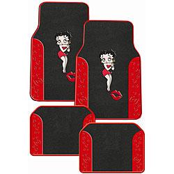 Betty Boop Front Rear Carpet Auto Floor Mats Set Of 4