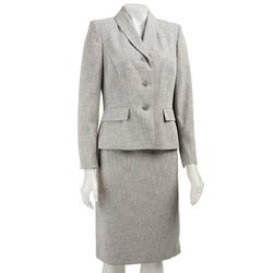 Le Suit Women's Two-piece Three-button Skirt Suit