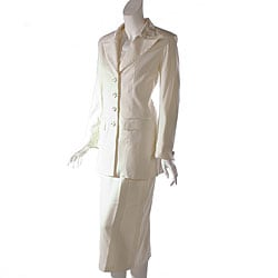 GMI Women's Ivory Skirt Suit