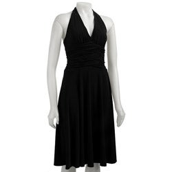 Newyork Dress on Jones New York Women S Black Halter Dress   Overstock Com
