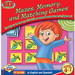 Early Learning Fun Mazes, Memory and Matching Software