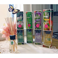 Greenair Aromatherapy Essential Oil Reed Diffusers (Set of 4)