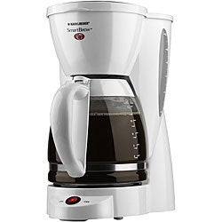 Black & Decker SmartBrew 12-cup White Coffee Maker