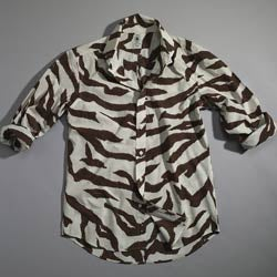 Hickey Zebra Print Men's Sport Shirt