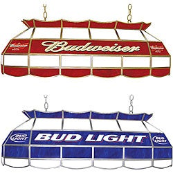 Licensed Beer 40-inch Tiffany-style Stained Glass Light