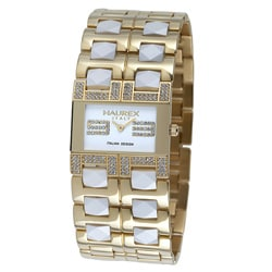 Haurex Italy Luna Women's Gold and White Watch